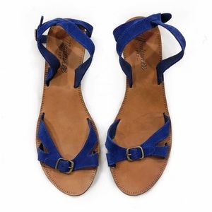 [Madewell] The Turnabout Sandal in Blue Suede